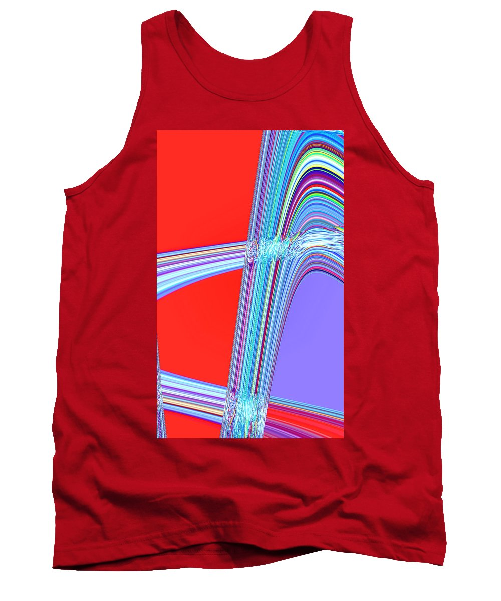 Moveonart! Digital Gallery Tank Top featuring the digital art Moveonart Live Move Collaborate by Jacob Kanduch