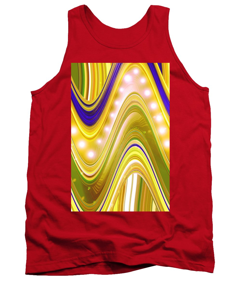 Moveonart! Digital Gallery Tank Top featuring the digital art Moveonart Wave Of Enlightenment Four by Jacob Kanduch