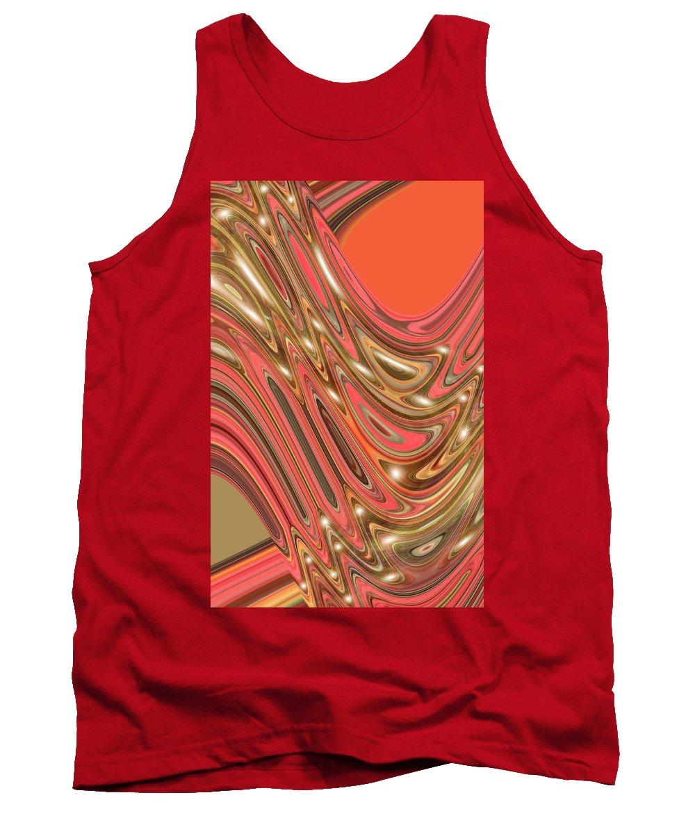 Moveonart! Digital Gallery Tank Top featuring the digital art Moveonart Waves Of Interpretation by Jacob Kanduch