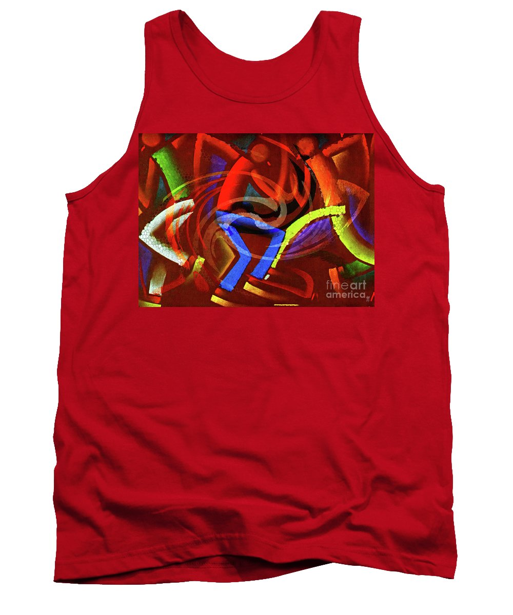 Move Tank Top featuring the painting Movin by Neil Finnemore