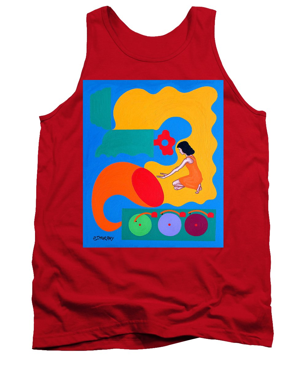 Music Tank Top featuring the painting Music Unlocks The Memories by Patrick J Murphy