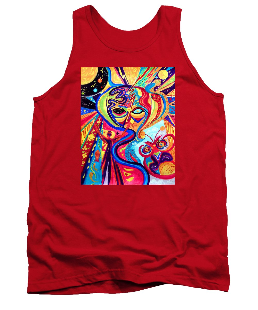 Abstract Tank Top featuring the painting My Brain by Marina Petro