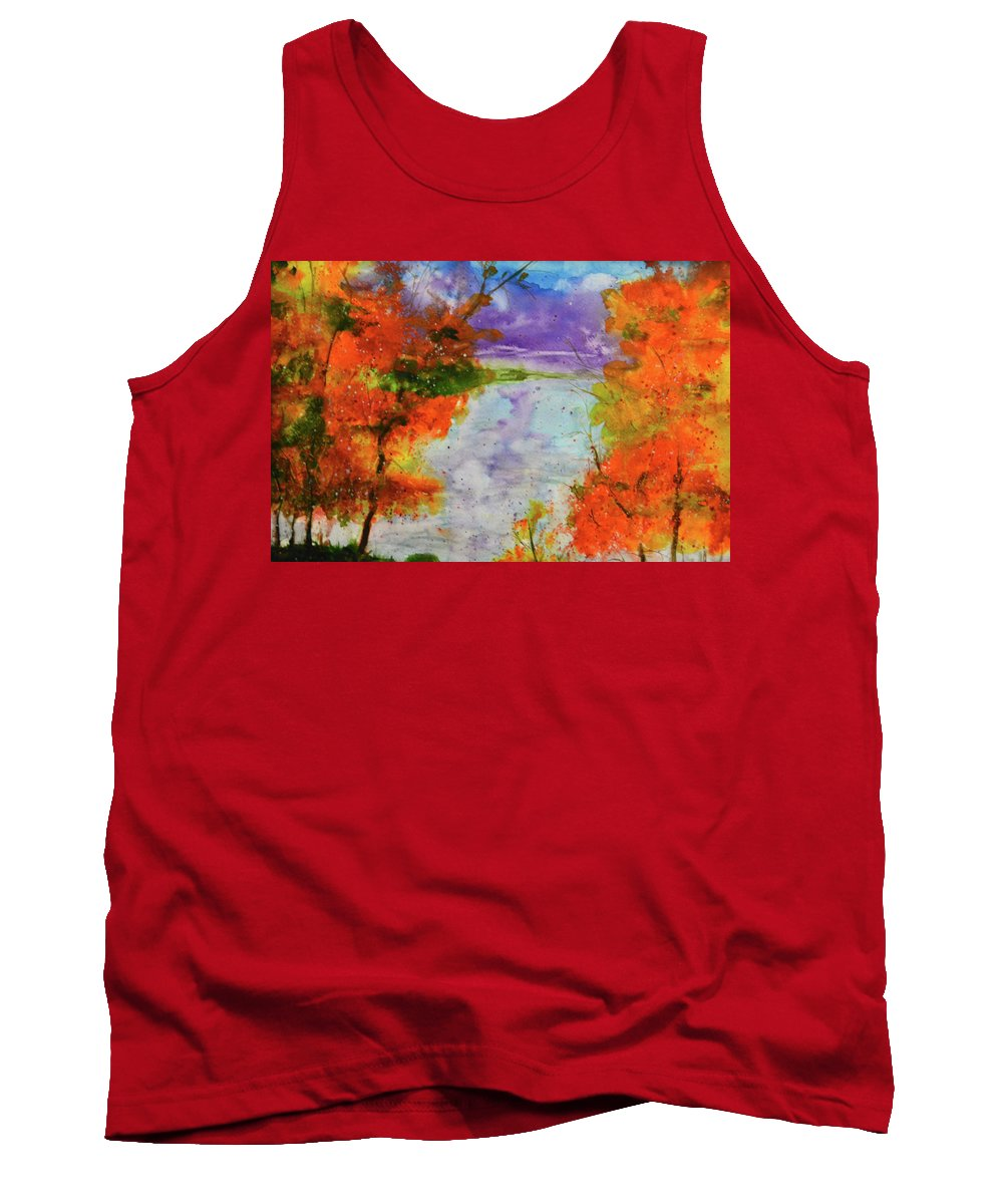 Watercolor Tank Top featuring the painting My Favorite Place by Karen Chatham