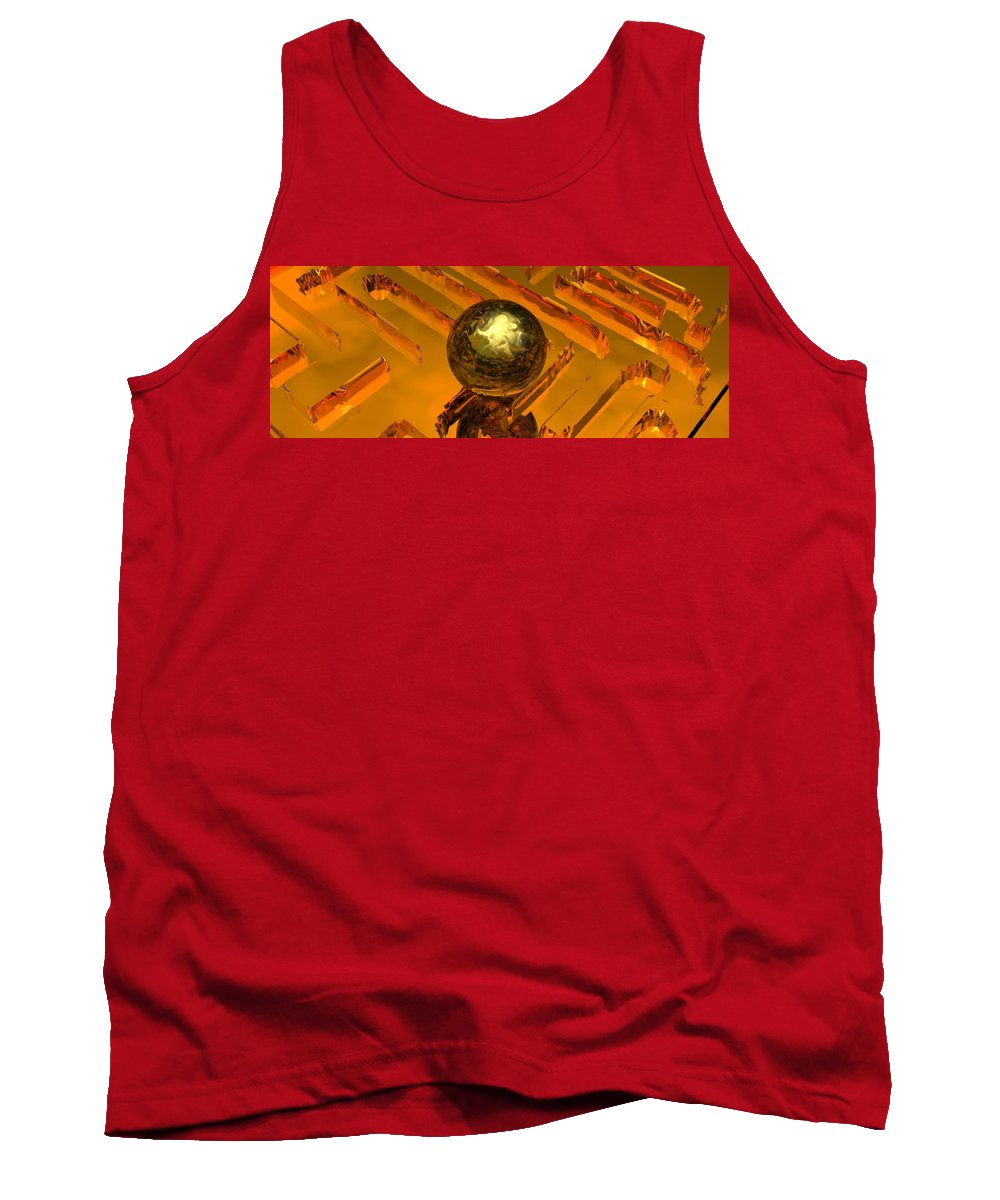 Mystical Tank Top featuring the digital art Mystic Vision by Oscar Basurto Carbonell