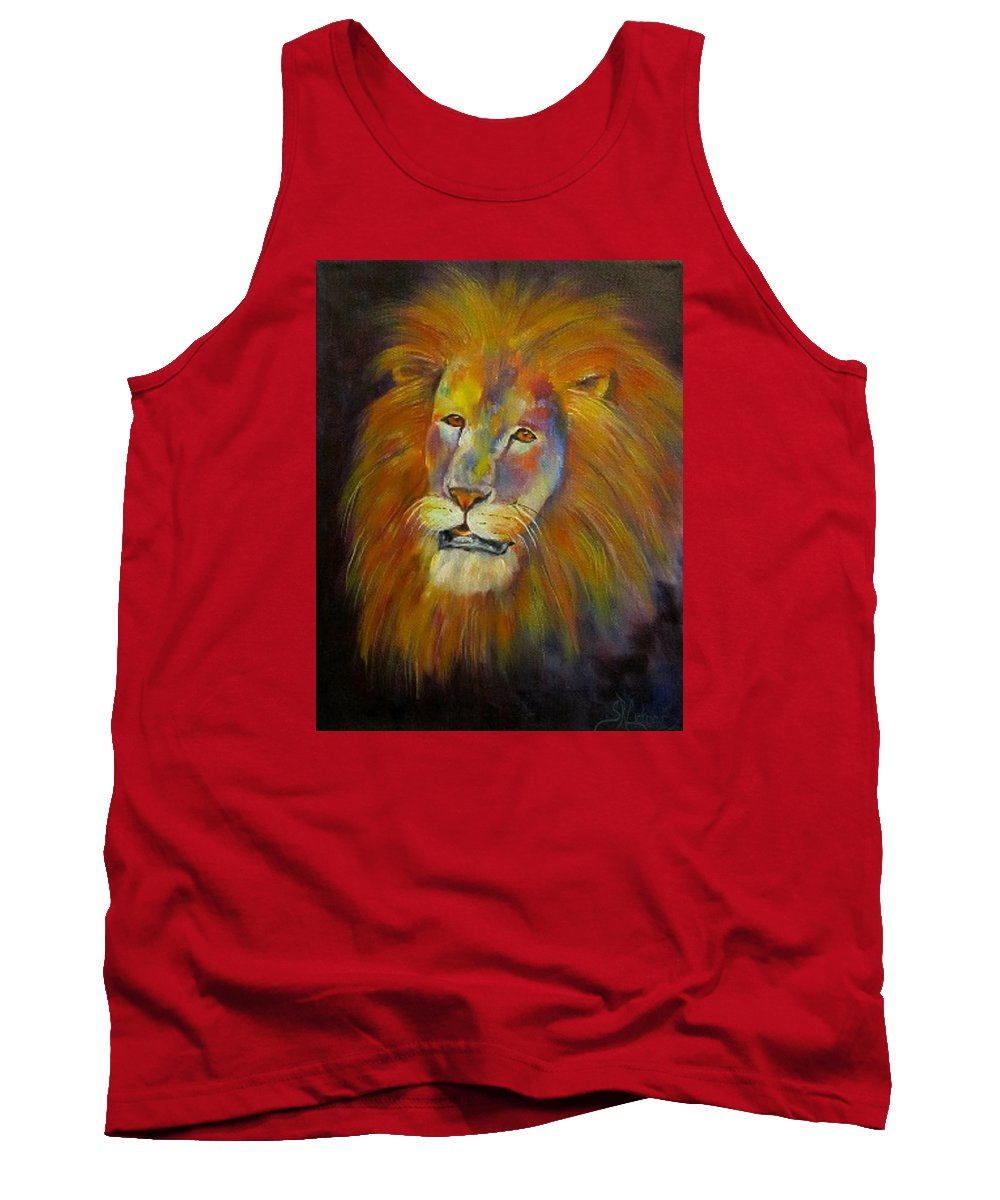 Lion Tank Top featuring the painting Naja, Lion by Sandra Reeves