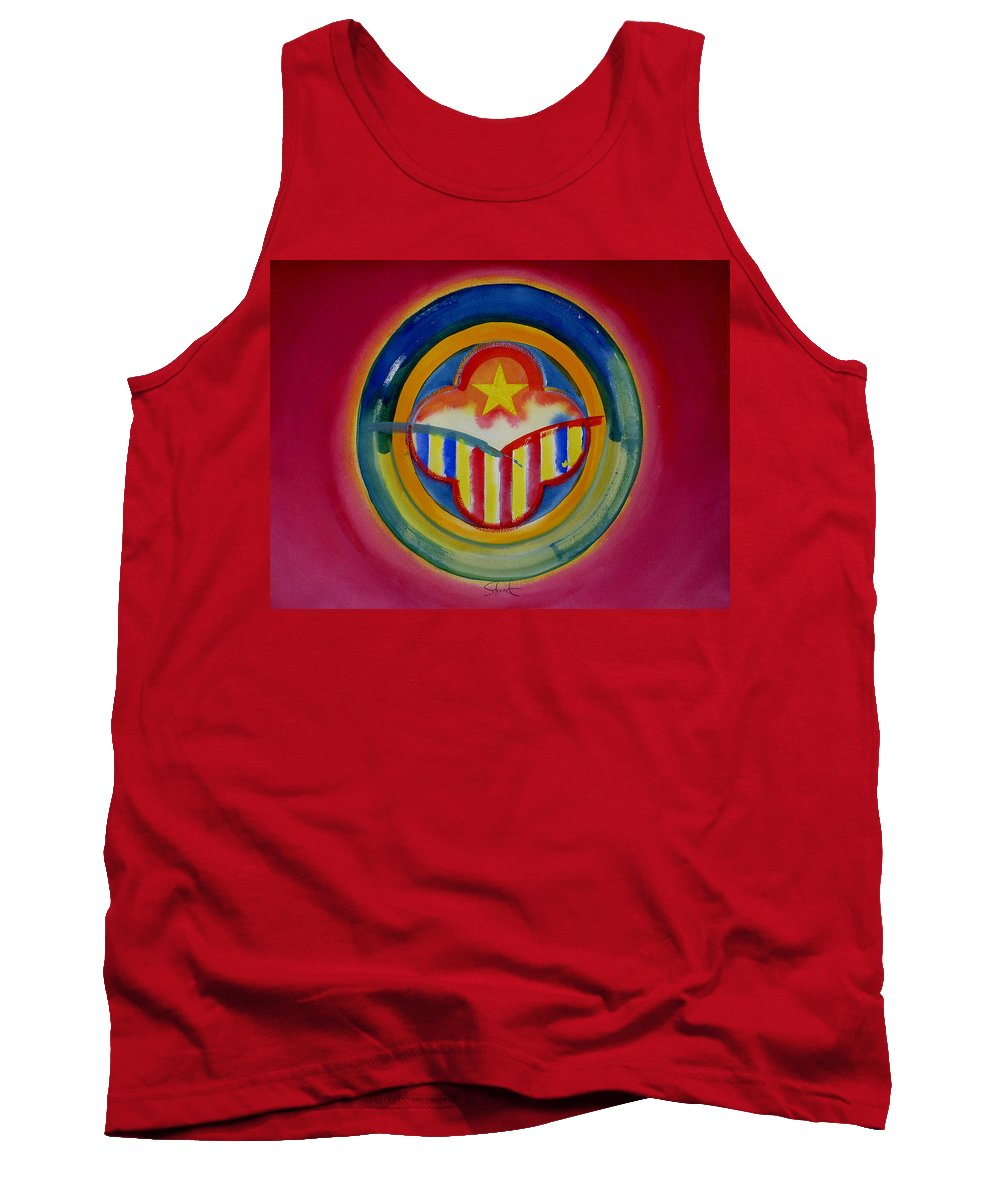 Button Tank Top featuring the painting Native American by Charles Stuart