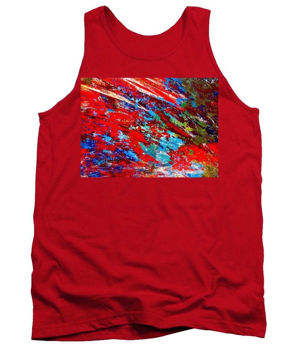 Abstract Tank Top featuring the painting Nature Harmony by Natalie Holland