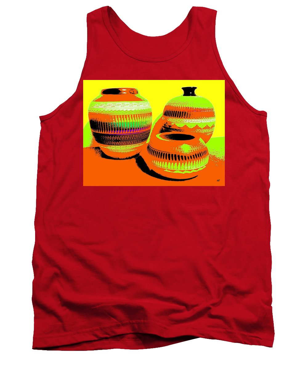Abstract Tank Top featuring the digital art Navajo Pots by Will Borden