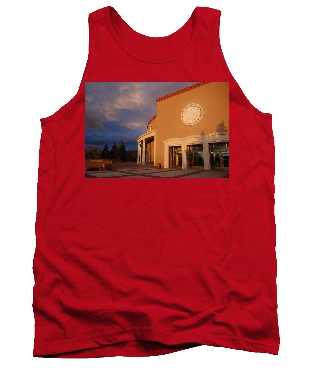 Architecture Tank Top featuring the photograph New Mexico State Capital Building by Rob Hans