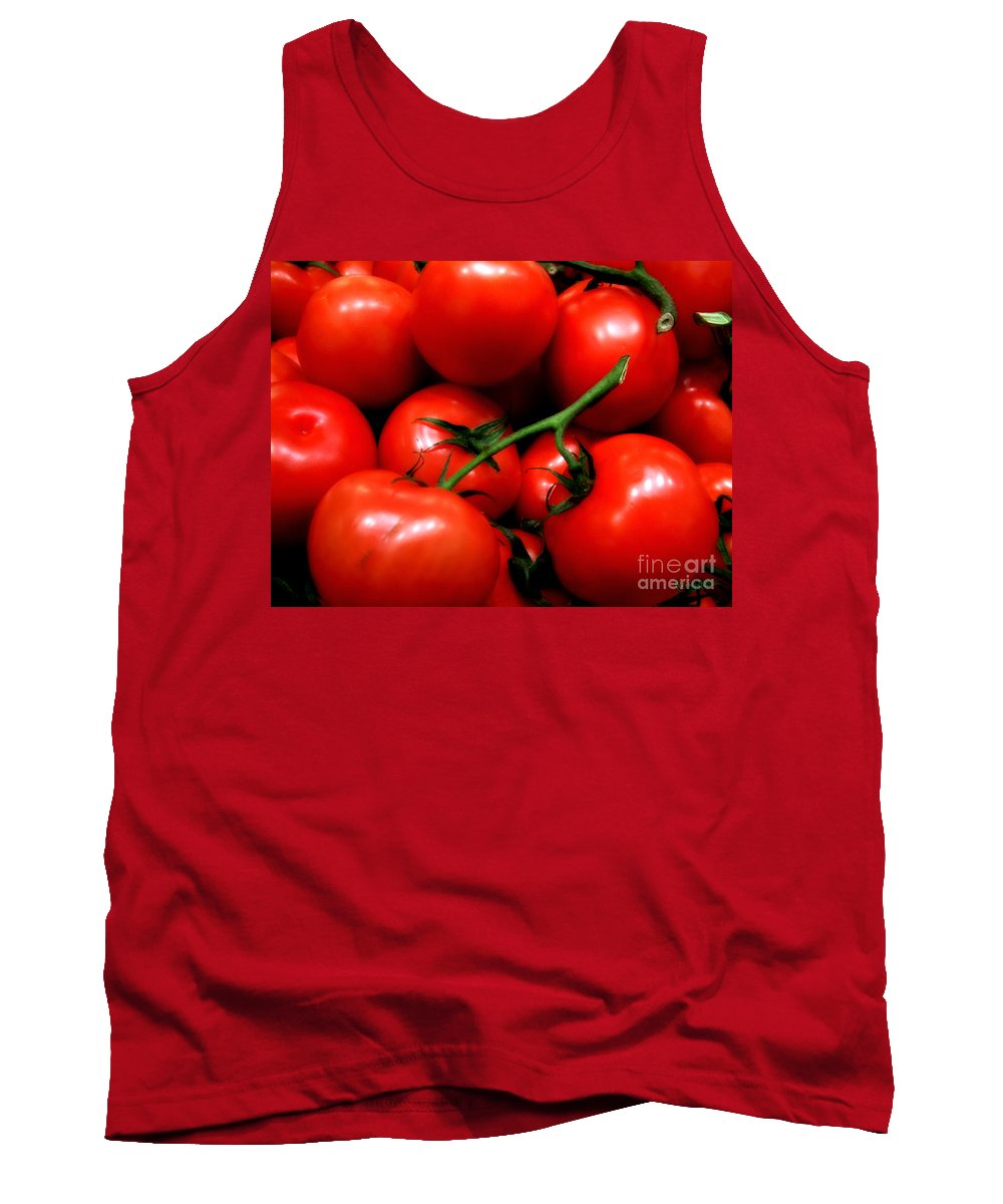 Food Tank Top featuring the photograph Nice Tomatoes Baby by RC DeWinter