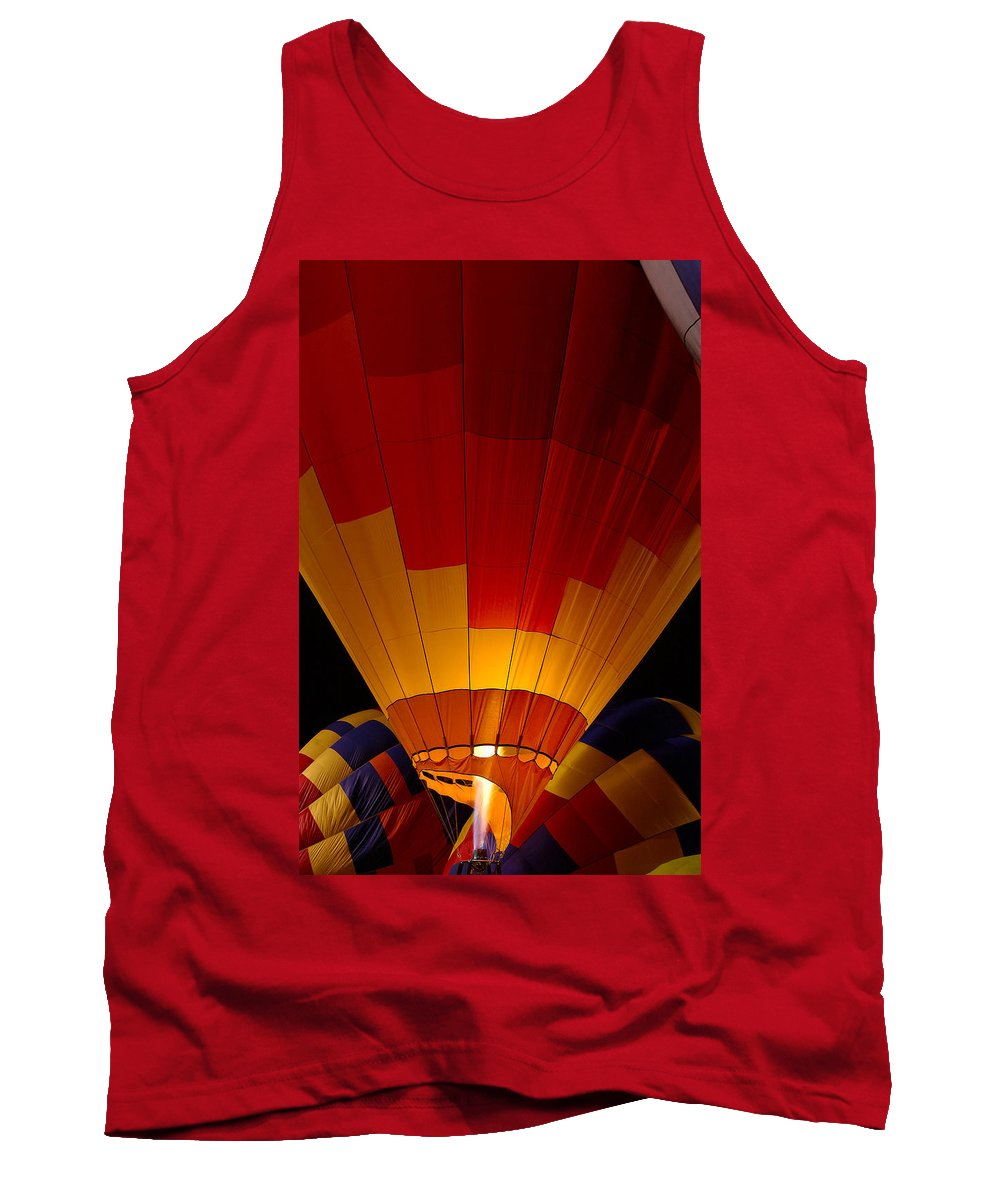 Balloon Tank Top featuring the photograph Night Flight by Mike Dawson
