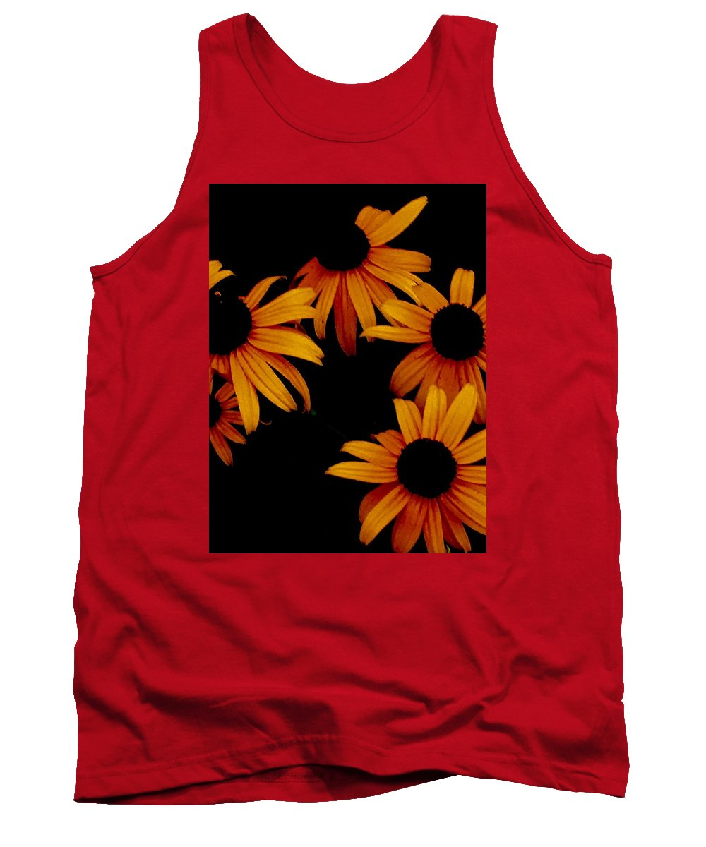 Flower Tank Top featuring the photograph Nighttime Flowers by David Martin Stevens
