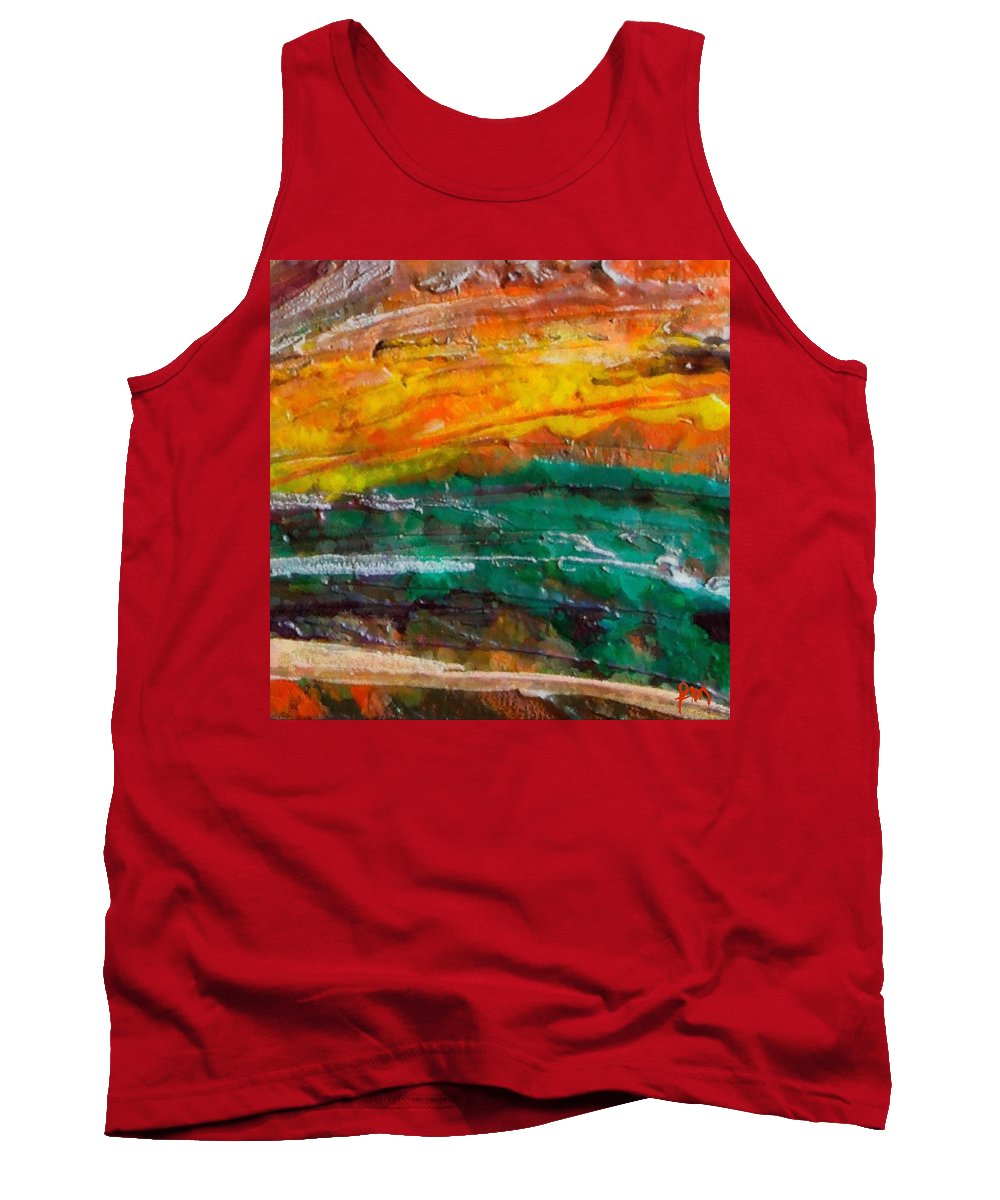 Nobody Landscape Tank Top featuring the painting Nobody Landscape by Dragica Micki Fortuna