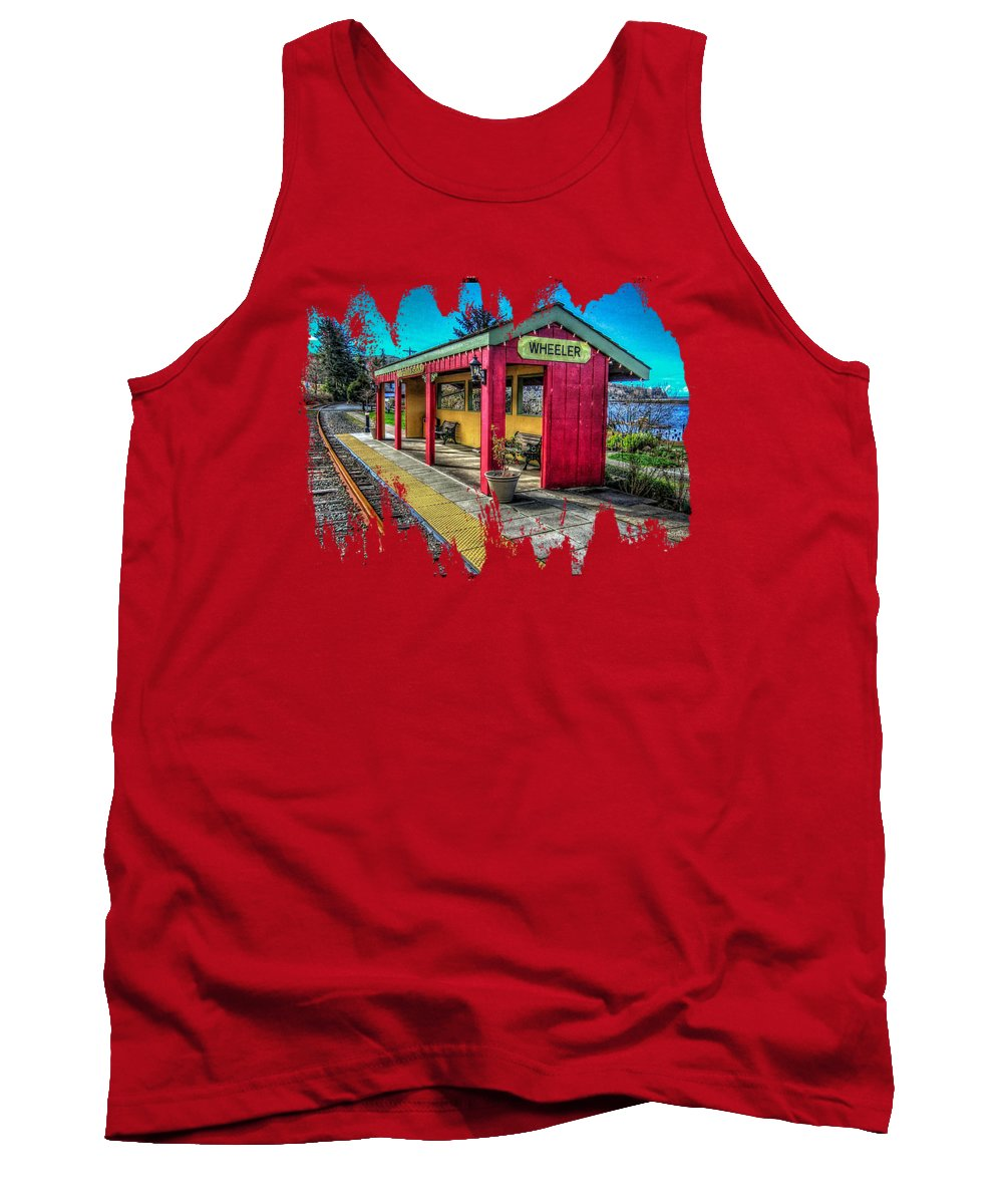 Railroad Station Tank Top featuring the photograph Norm Laknes Train Station by Thom Zehrfeld