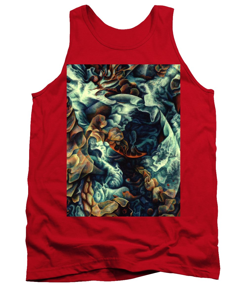 Spiritual Paintings Tank Top featuring the painting Nothing And Everything by Nad Wolinska