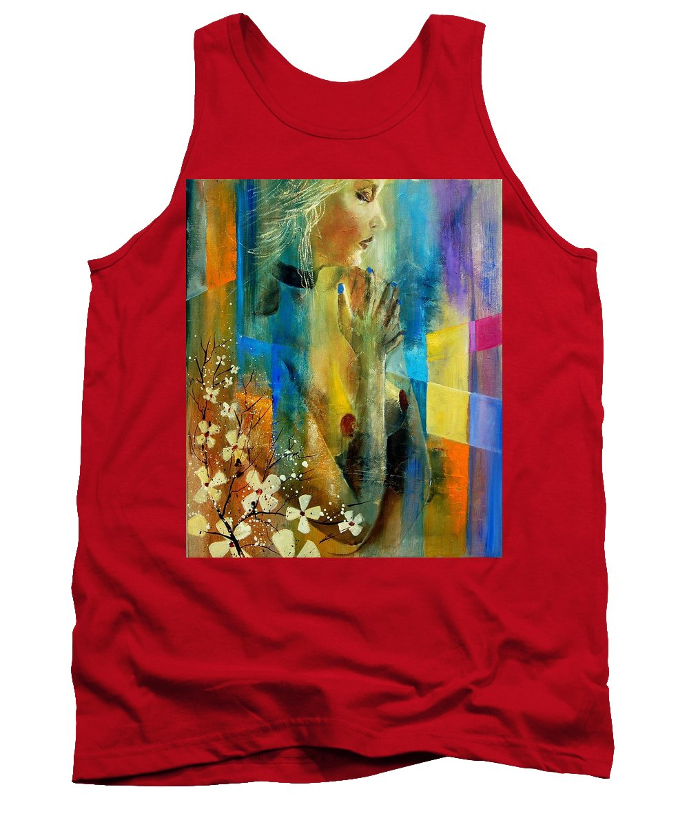 Nude Tank Top featuring the painting Nude 5609082 by Pol Ledent