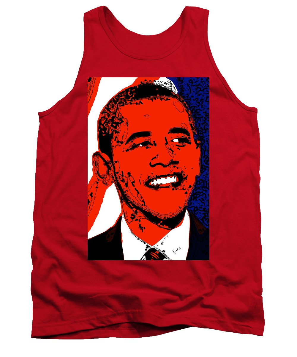 African Tank Top featuring the digital art Obama Hope by Rabi Khan
