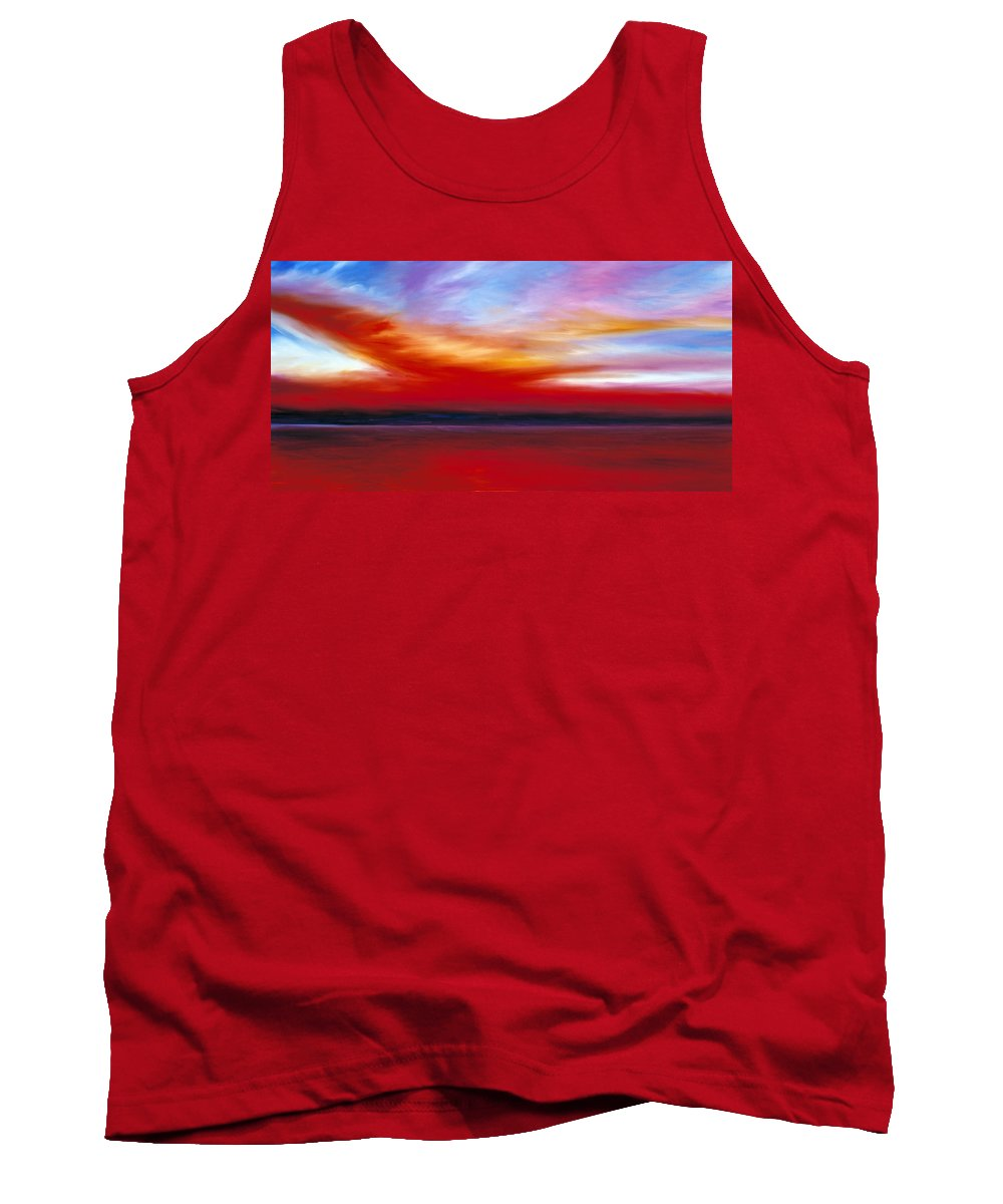 Clouds Tank Top featuring the painting October Sky by James Christopher Hill