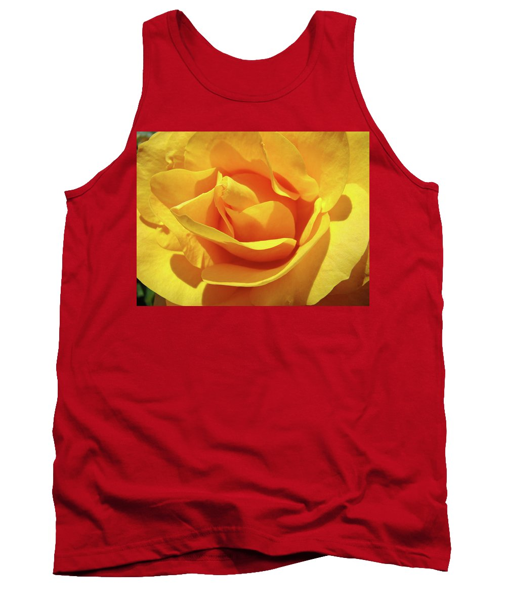 Rose Tank Top featuring the photograph Office Art Prints Roses Orange Yellow Rose Flower 1 Giclee Prints Baslee Troutman by Baslee Troutman