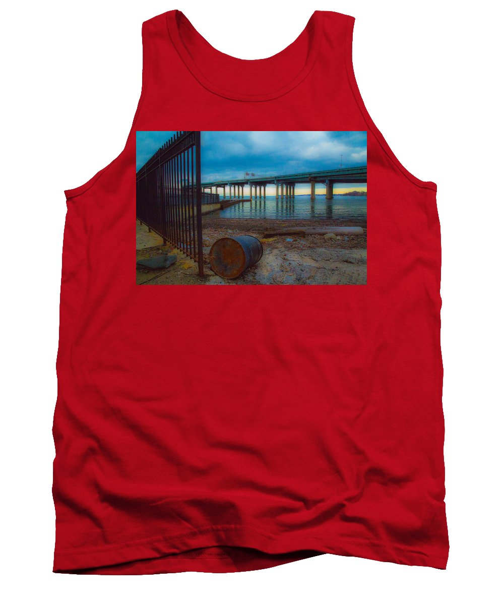 Dock Tank Top featuring the photograph Old Dock by Robert Rotkowitz