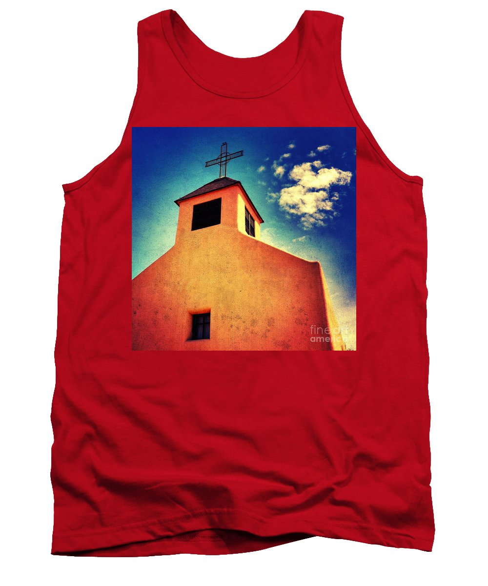 Iphoneography Tank Top featuring the photograph Old Santa Fe Church by Matt Suess