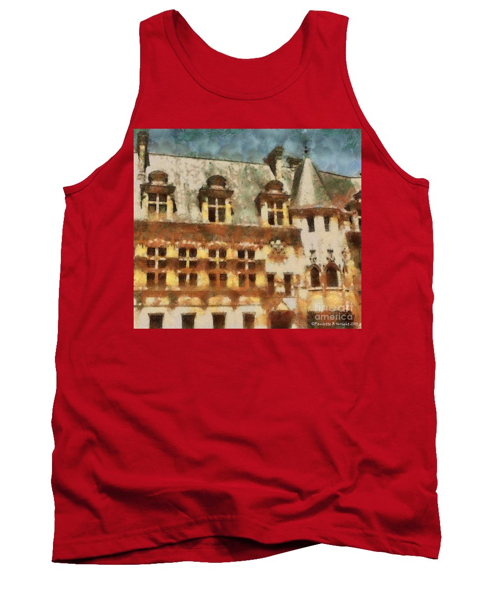 France Tank Top featuring the painting Old World by Paulette B Wright