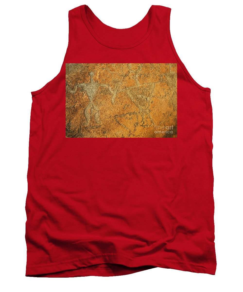 Ancient Tank Top featuring the photograph Olowalu Petroglyphs by MakenaStockMedia - Printscapes