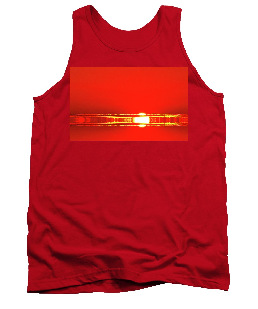 Abstract Tank Top featuring the digital art On September 9-2017 Two by Lyle Crump