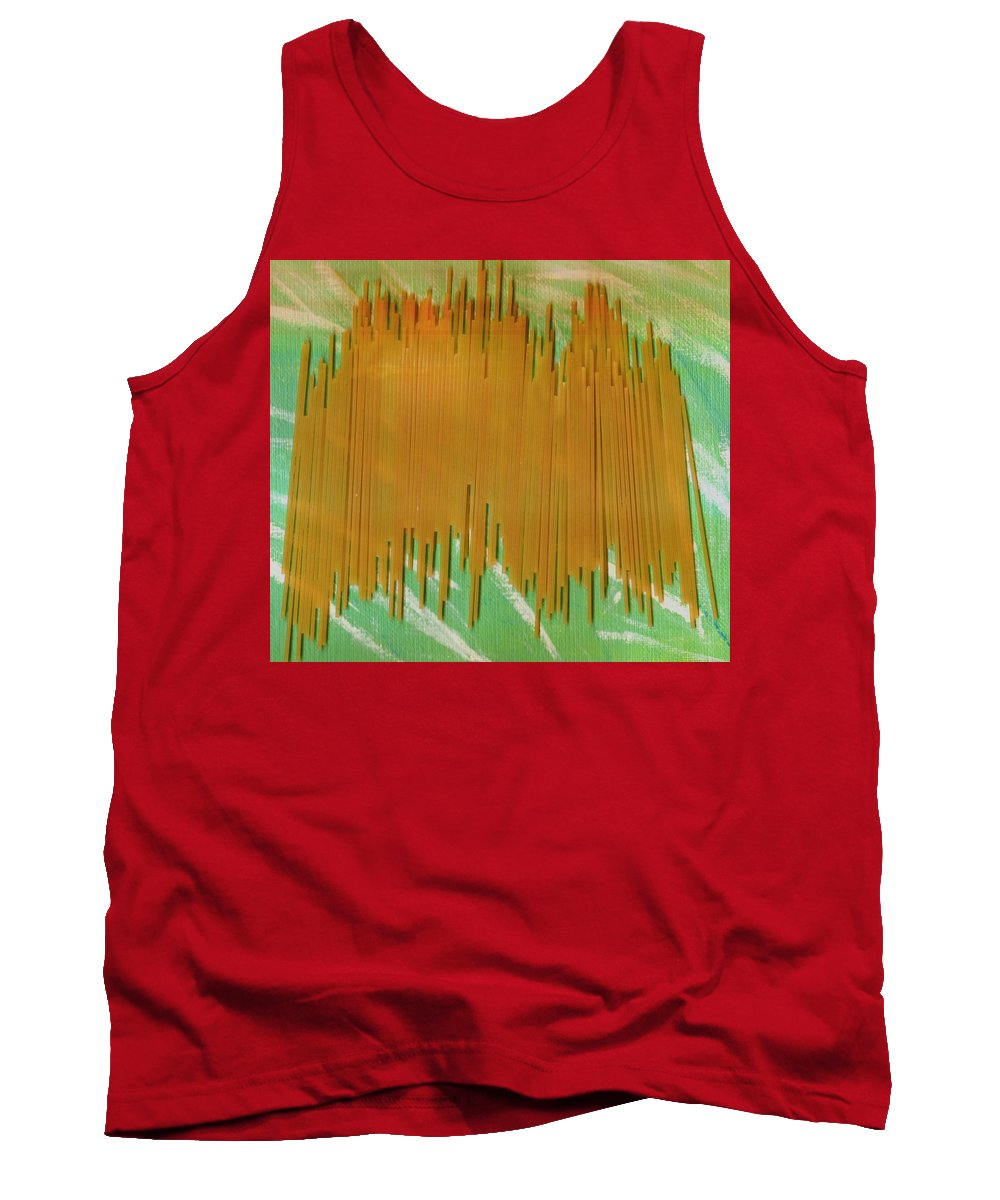 Food Tank Top featuring the mixed media On Your Wall Popart by Pepita Selles