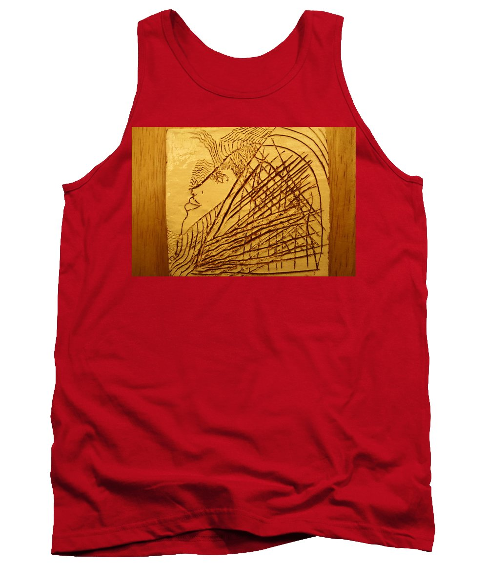 Jesus Tank Top featuring the ceramic art Once - Tile by Gloria Ssali