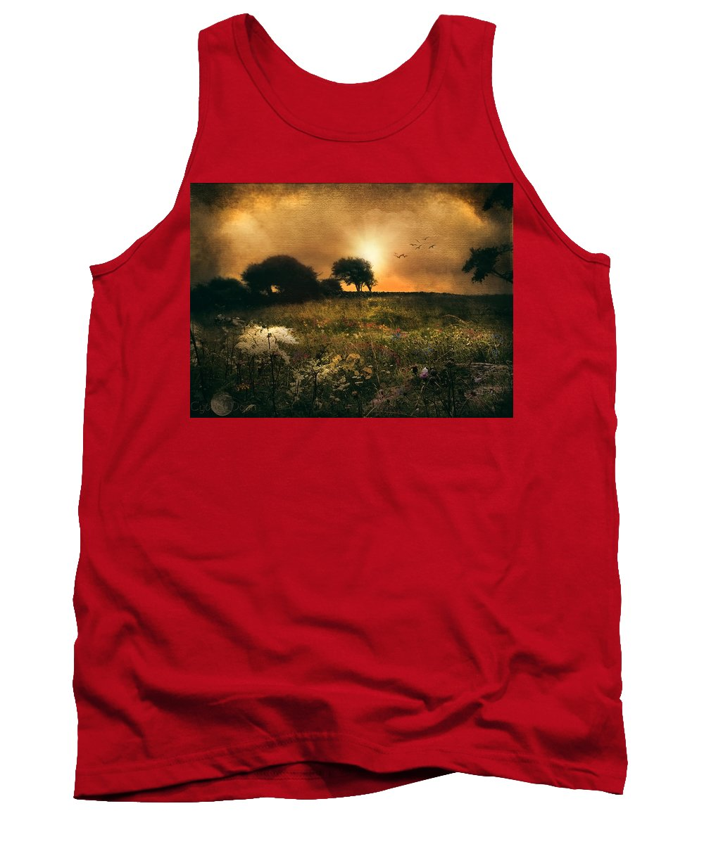 Tank Top featuring the photograph one morning in Clare by Cybele Moon
