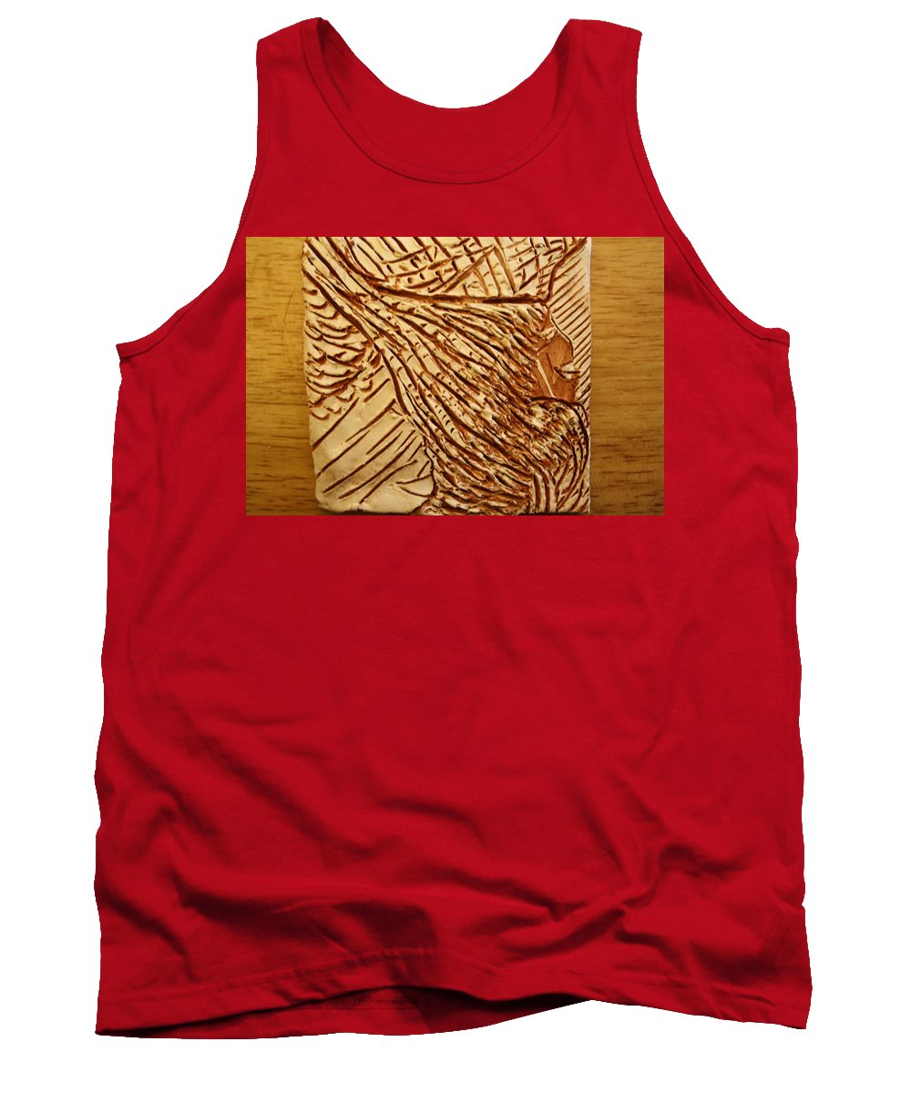 Jesus Tank Top featuring the ceramic art Only You - Tile by Gloria Ssali