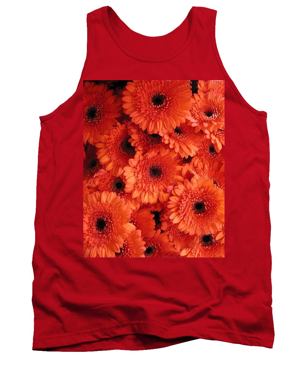 Flowers Tank Top featuring the photograph Orange Daisies by Tom Reynen