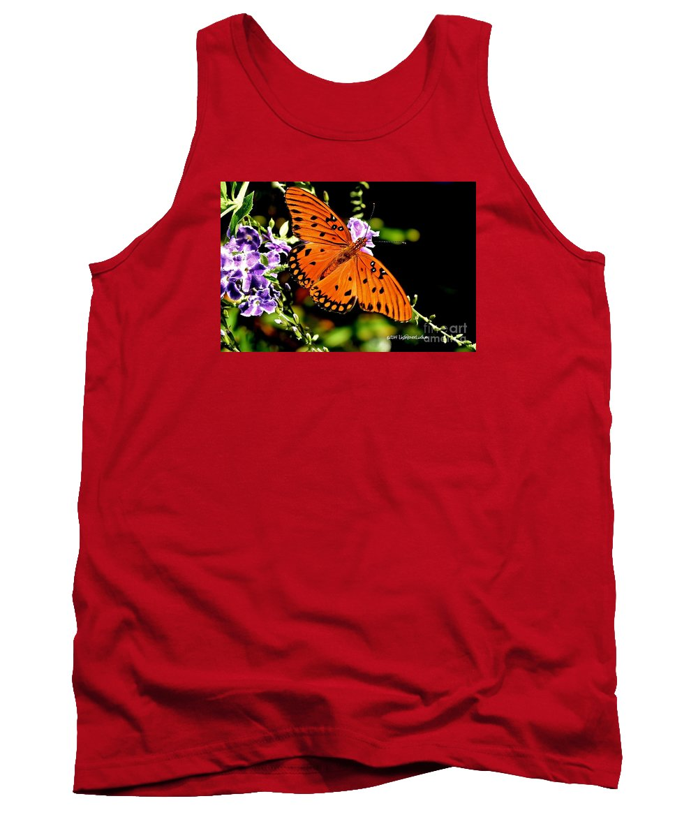 Orange Marvel Tank Top featuring the photograph Orange Marvel by Lisa Renee Ludlum