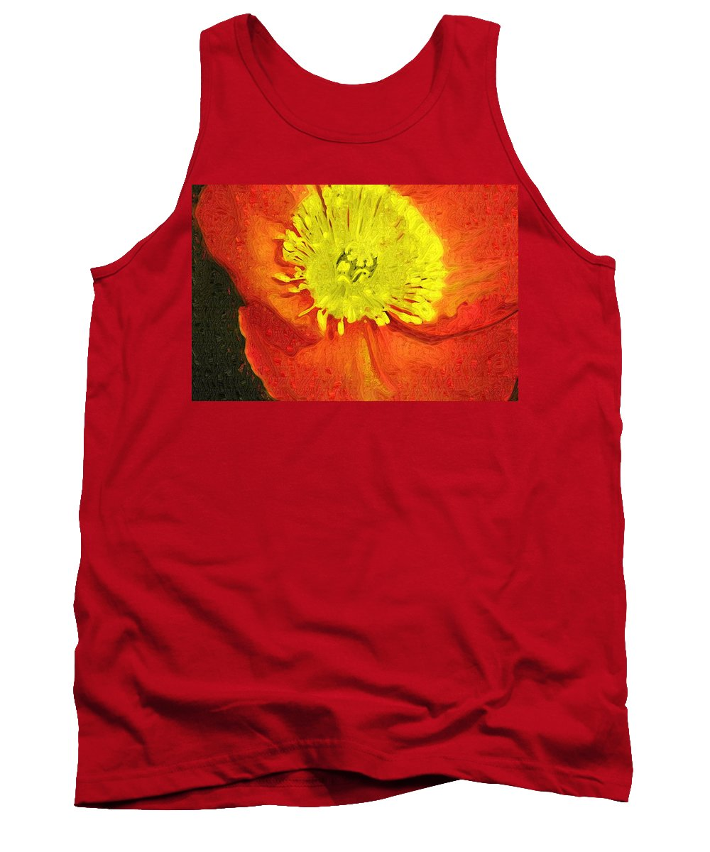 Poppy Tank Top featuring the photograph Orange Poppy by Donna Bentley