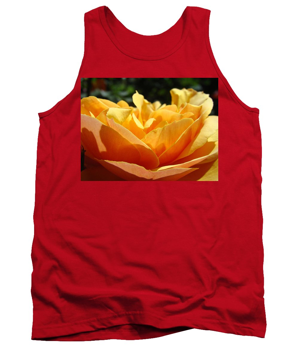 Rose Tank Top featuring the photograph Orange Rose Art Prints Baslee Troutman by Baslee Troutman