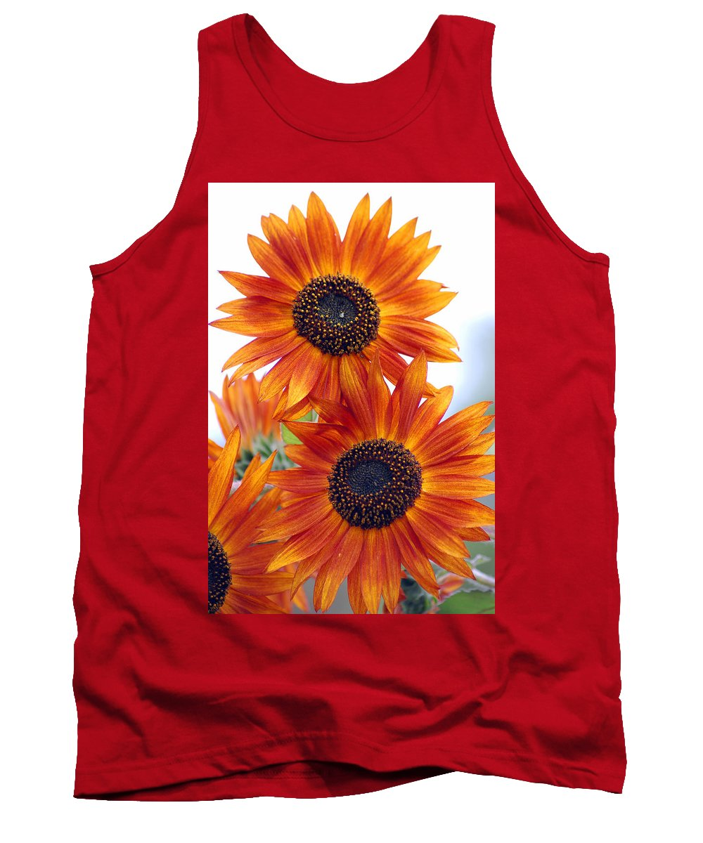 Sunflower Tank Top featuring the photograph Orange Sunflower 2 by Amy Fose