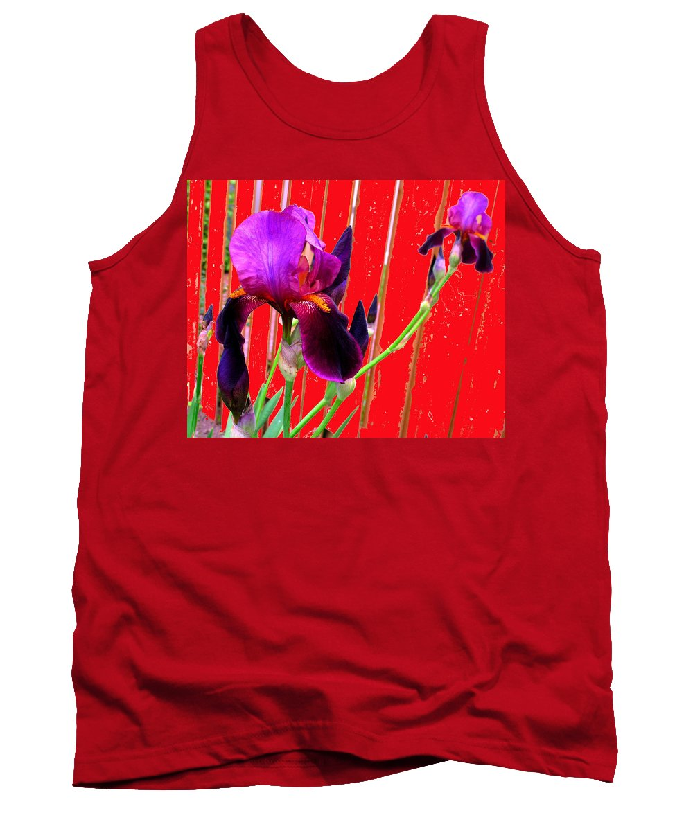 Iris Tank Top featuring the photograph Other Side Of The Fence by Ian MacDonald