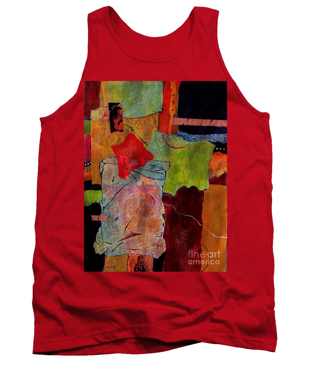 Abstract Expressionism Tank Top featuring the painting Out Of Bounds by Donna Frost