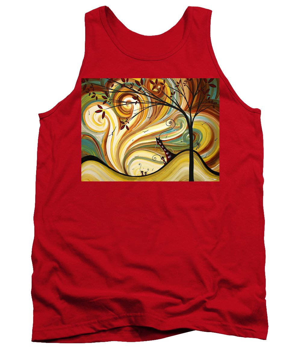 Art Tank Top featuring the painting Out West Original Madart Painting by Megan Duncanson