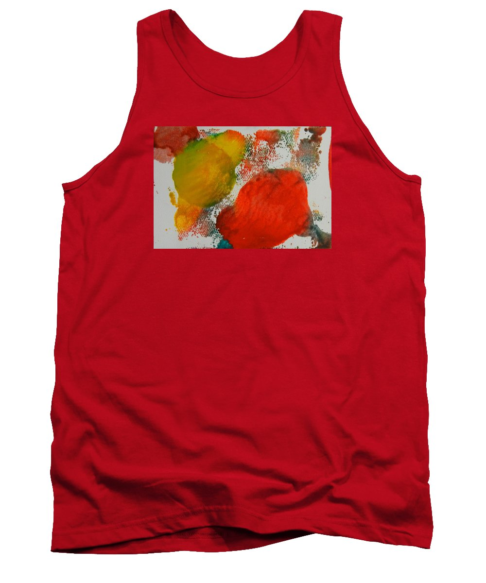 Abstract Tank Top featuring the painting Outside The Lines by Kruti Shah