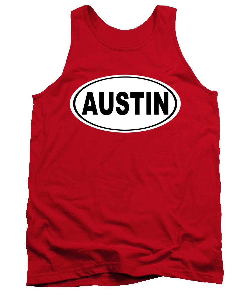 Austin Tank Top featuring the photograph Oval Austin Texas Home Pride by Keith Webber Jr