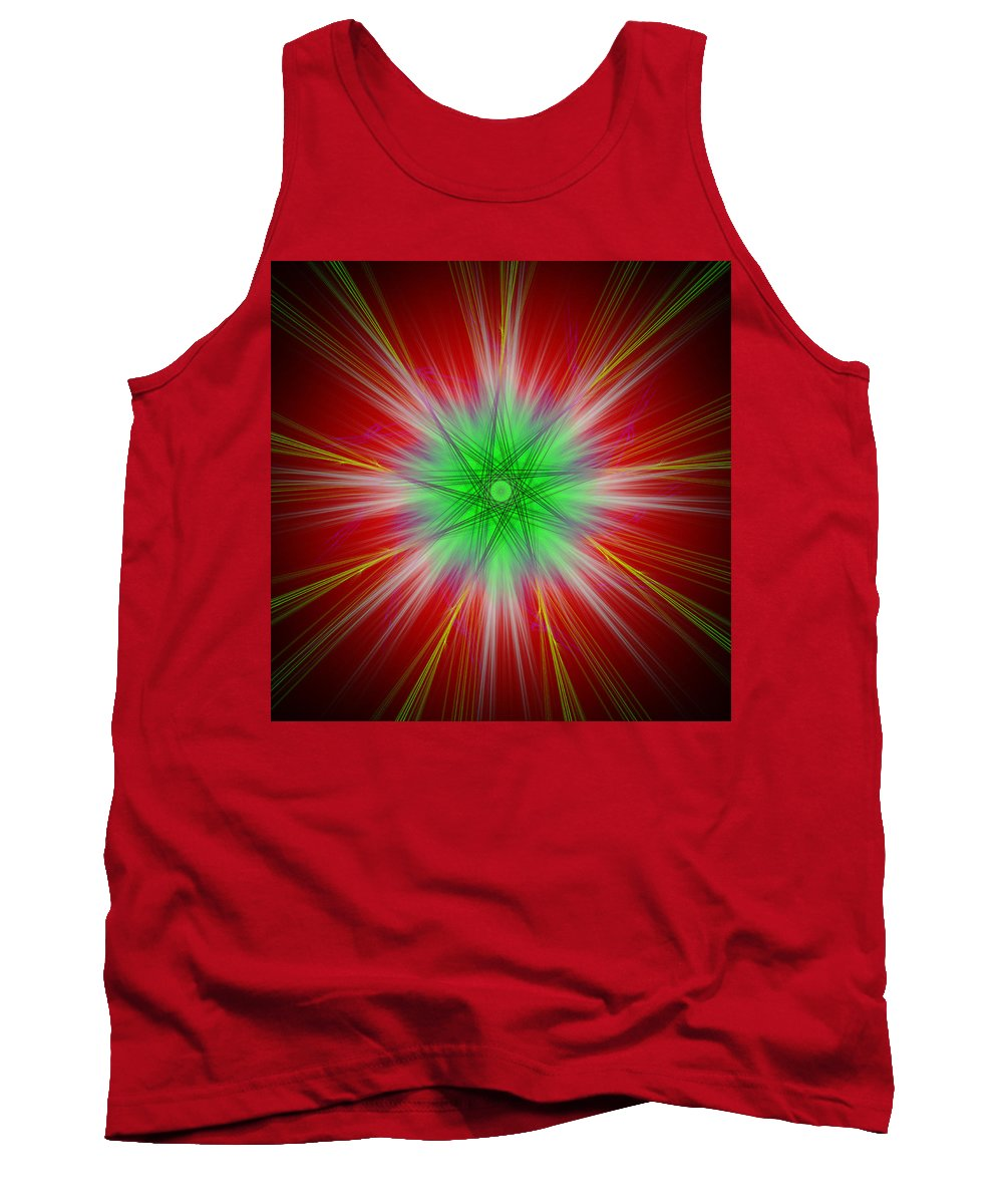 Abstract Tank Top featuring the digital art Overtilate by Andrew Kotlinski