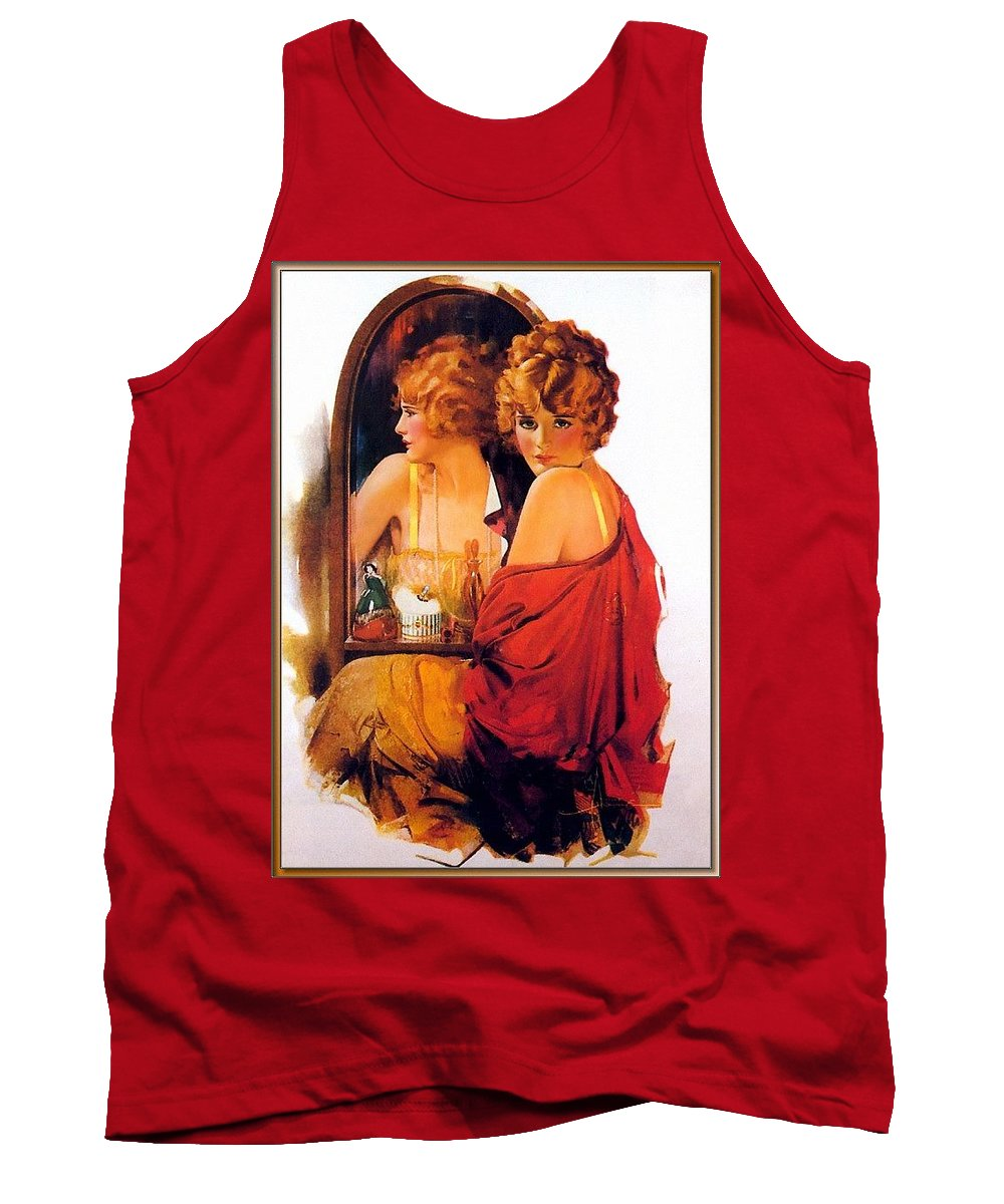 Fashion Tank Top featuring the digital art p rarmstrong 026 Rolf Armstrong by Eloisa Mannion
