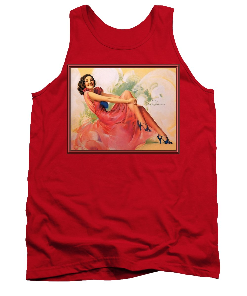 Dress Tank Top featuring the digital art p rarmstrong 091 Rolf Armstrong by Eloisa Mannion