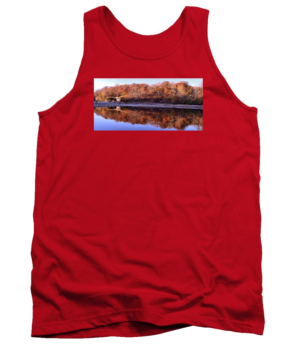 Landscape Tank Top featuring the photograph Palisades-kepler State Park - Mt. Vernon, Ia by Sherri Hasley
