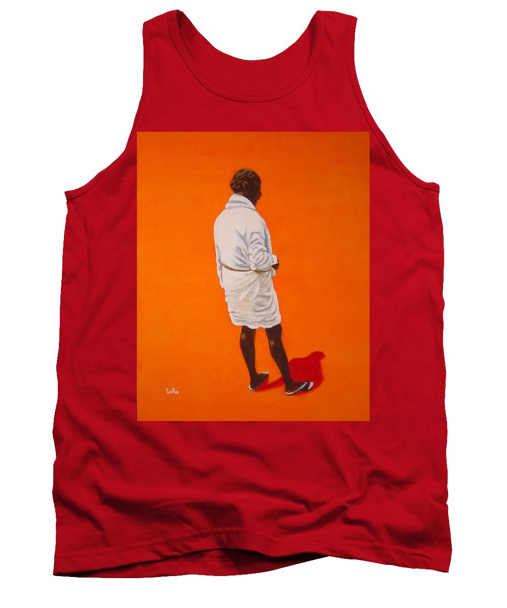 Lungi Tank Top featuring the painting Panche by Usha Shantharam