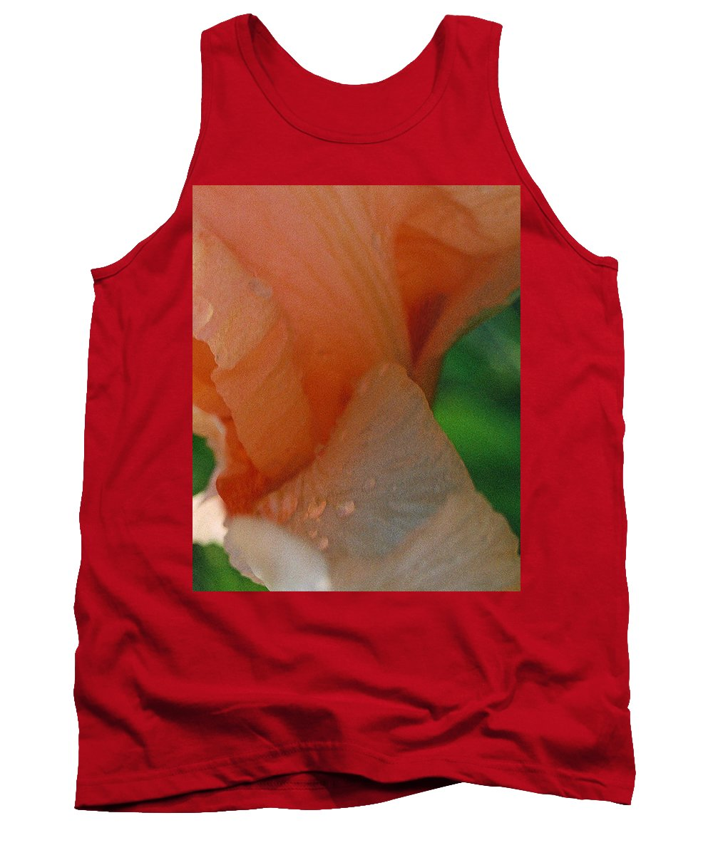 Abstract Tank Top featuring the photograph Panel One From Iris by Steve Karol
