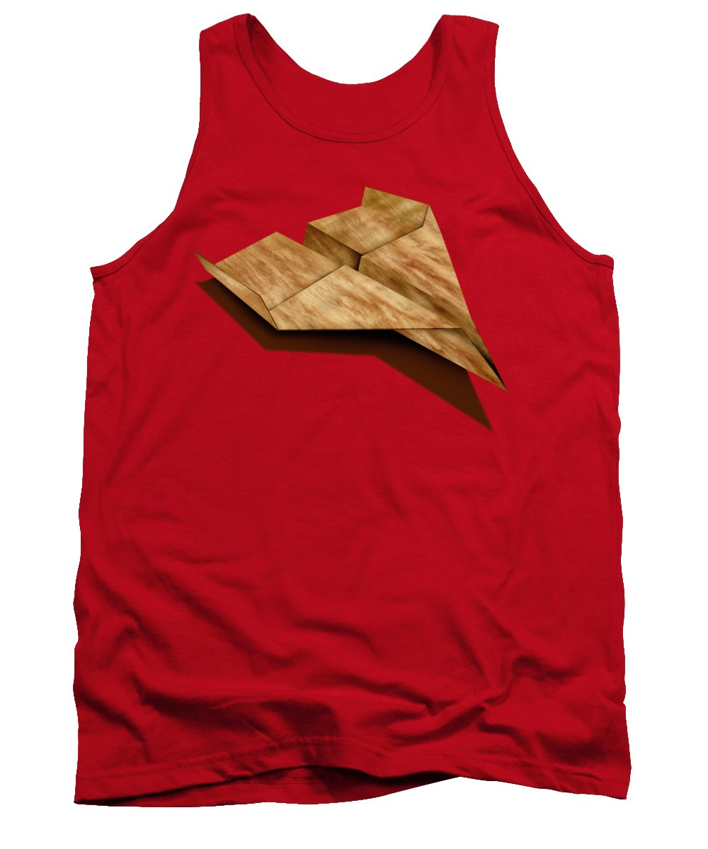 Aircraft Tank Top featuring the photograph Paper Airplanes Of Wood 5 by YoPedro