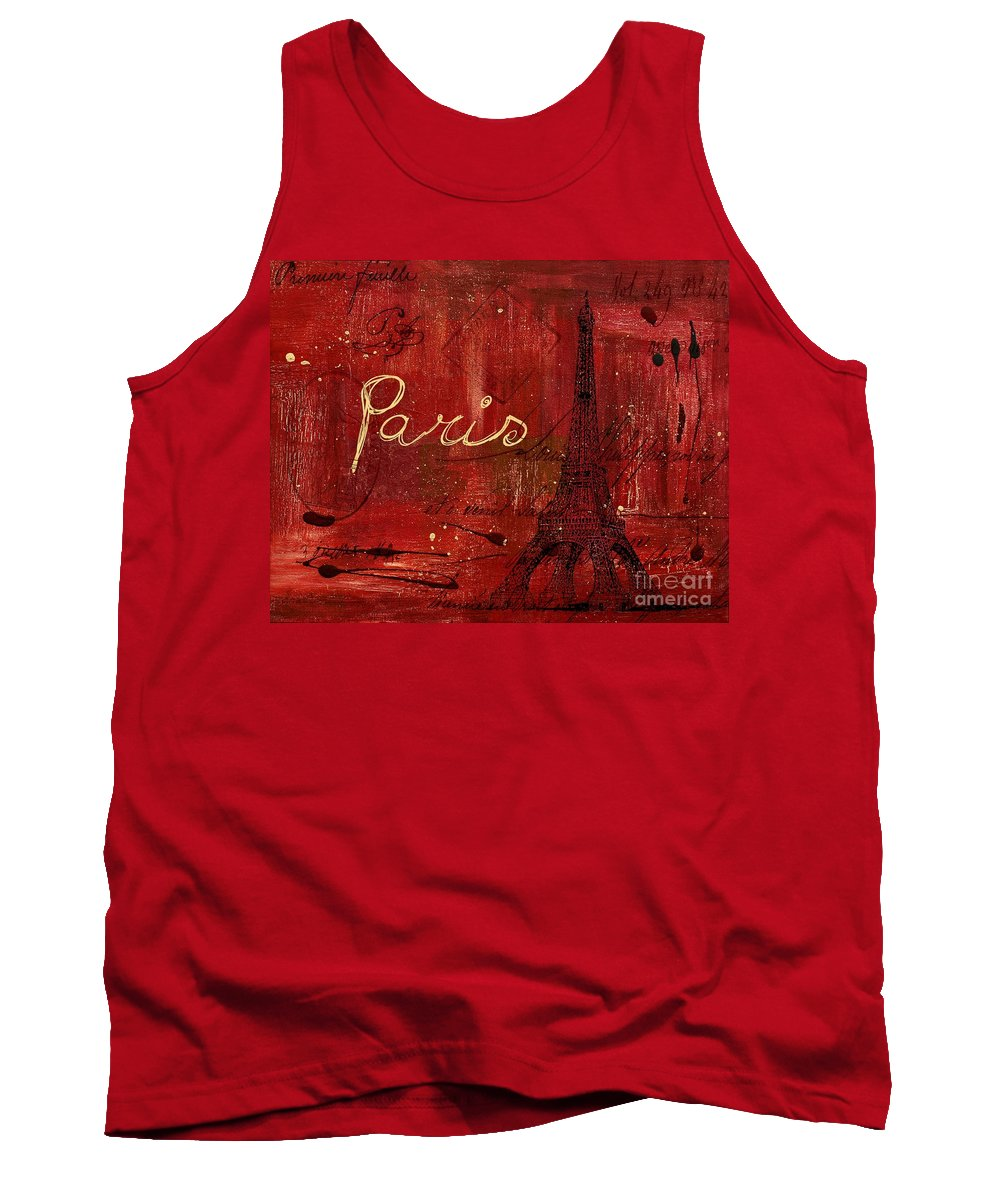Paris Tank Top featuring the painting Paris - V01ct1at2cc by Variance Collections